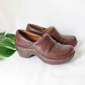ARIAT Leather Clogs Western All Day Comfortable